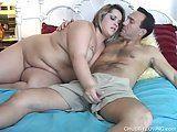 Gorda tarada com o amante