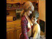 Madrasta seduzindo o enteado sortudo