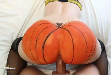 Comemorando o halloween com o amante