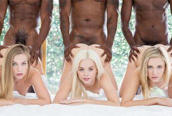 Video de sexo de três loiras com três negros